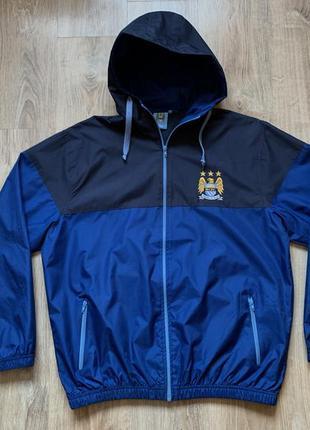 Мужская кофта с капюшоном футбольная manchester city xl