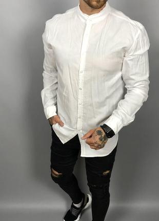 Мужская рубашка без воротника от hugo boss (#1r59)