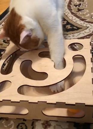 Игрушка для кошек с мячом