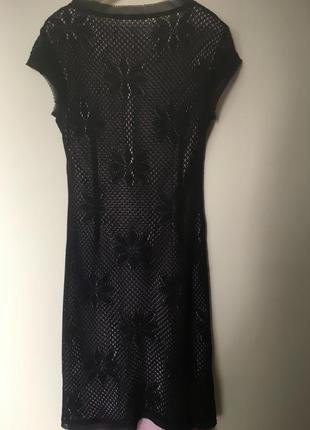 Трикотажное ажурное платье италия