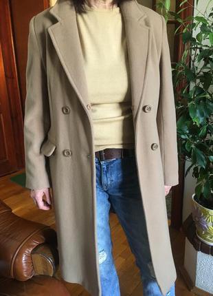 Демисезонное пальто шерсть кашемир