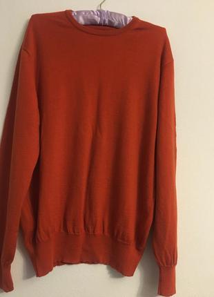 Пуловер джемпер из мериносовой шерсти