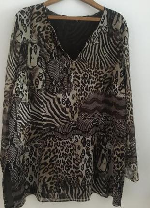Блуза  туника большого размера