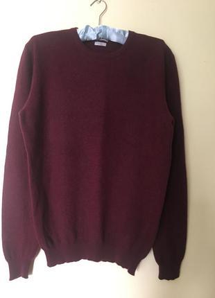 Свитер пуловер из мериносовой шерсти