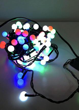 Гирлянда-нить (String-Lights) внутренняя разноцветная (пров.:черн