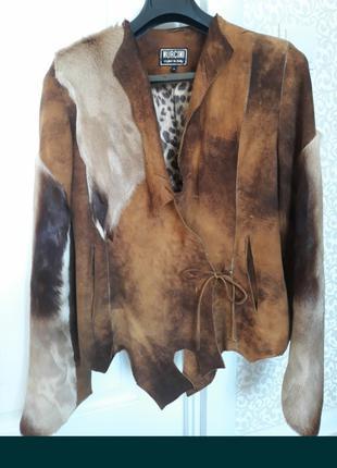 Замшевый пиджак куртка в стиле этно, бохо.
