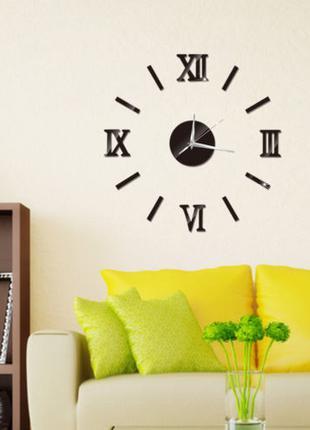 Настенные часы стикеры наклейки с 3D-эффектом (римские цифры)