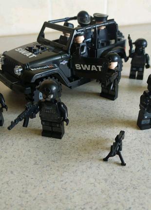 Лего минифигурки спецназ (SWAT)