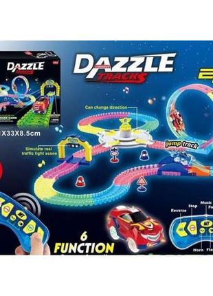 Гоночный светящийся трек на р/у Dazzle Tracks трасса 537 см / 157