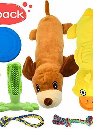 Универсальный набор игрушек для собак и щенков пород 6-в-1
