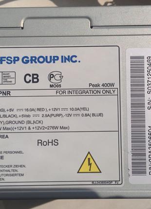 Как новый. FSP ATX-350PNR - 400 Вт мах, в идеальном состоянии.
