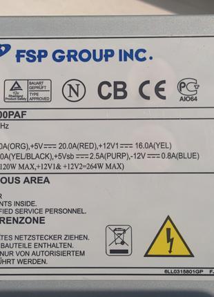 Чистые! блоки питания FSP ATX-300PАF в отличном состоянии.