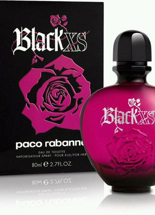 Женская парфюмированная вода Paco Rabanne Black XS For Her (80 мл