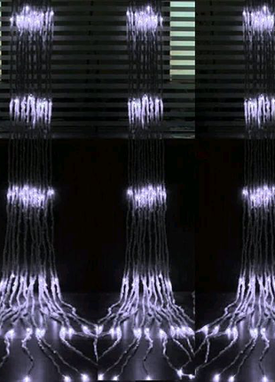 Гирлянда светодиодная Занавес-Водопад 2 на 3 метра 420 led белый