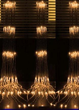 Гирлянда светодиодная Занавес-Водопад 2 на 3 метра 420 led шампан