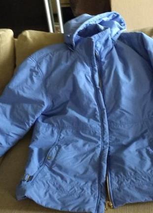 Куртка пуховик женская утеплённая на синтепоне голубая