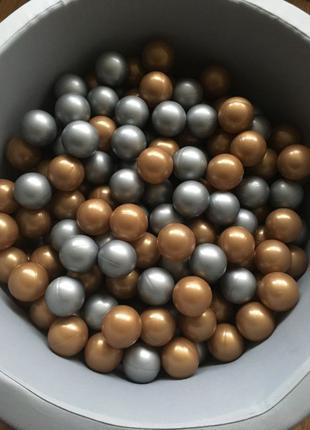 Шарики, мячики для сухого бассейна детские 200 шт