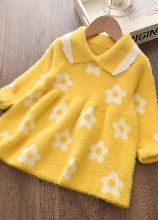 Платье детское теплое