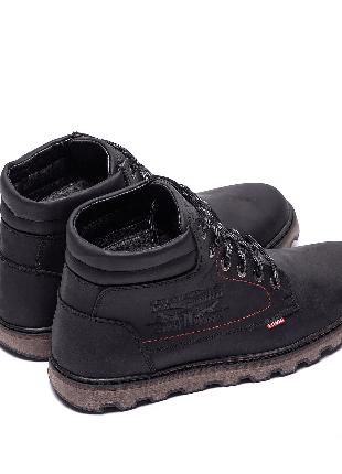 Мужские зимние кожаные ботинки на натуральном меху Levis Expensiv