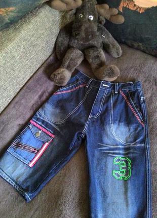 Шорты джинсовые на мальчика 10-13 лет