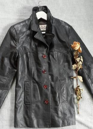 Кожаная куртка удлиненная c.o.d.