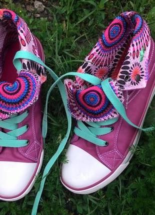 Кеды кросовки с отворотом высокие