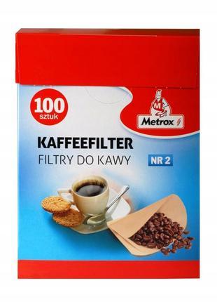Фильтры для кофеварки Metrox №2 упаковка 100 штук