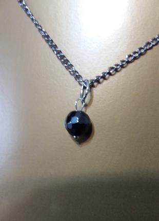 Новый кулон гематит бусинка натуральный минерал подарок девушке