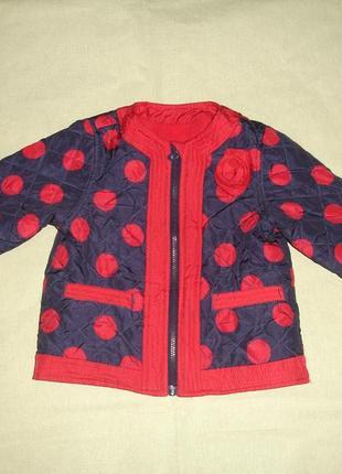 Красивая фирменная куртка девочке на год-полтора идеал