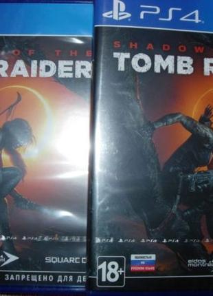 Shadow of the Tomb Raider рs4. Диск Новый, русская озвучка и о...