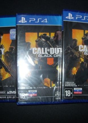 Call of Duty: Black Ops 4 PS4. Диск Новый, русская версия