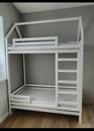 Кровать домик Двухъярусная кровать Ліжечко будинок