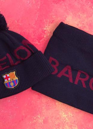 Шапка + Баф(горловик) ФК Барселона