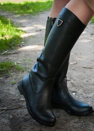 Сапоги ботинки из натуральной кожы