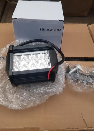 Фара LED прямоугольная 36W, 12 ламп, 10/30V 6000K