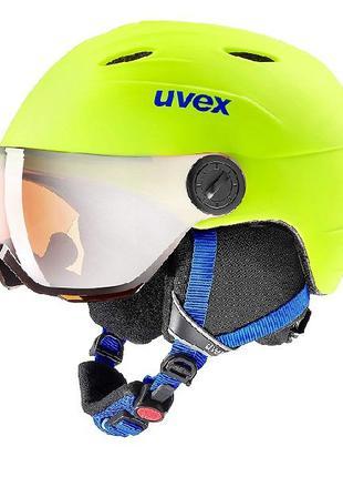 Шлем Шолом Шлем Uvex Kid's Junior Visor Pro 52-54см - Неоново-...