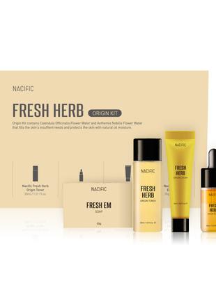 Набор базовых средств на травяных экстрактах NACIFIC Origin Fresh