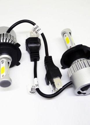 Светодиодные LED лампы S2 H4, H7, автолампы, вентиляторное охл...