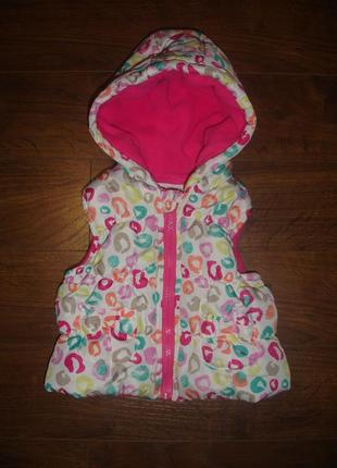 Фирменная уютная теплая жилетка девочке на 9-12 месяцев новое ...