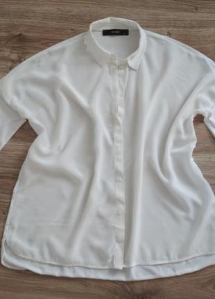 Блуза рубашка оверсайз от hallhuber, шелк/хлопок