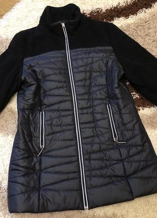 Женская куртка пальто,полупальто утеплённое куртка размер л-хл...
