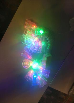 Светодиодная гирлянда Колокольчики 20шт 4м 220V Микс