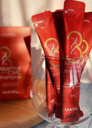 ♥️пробник корейского шампуня с аминокислотами masil 3 salon ha...