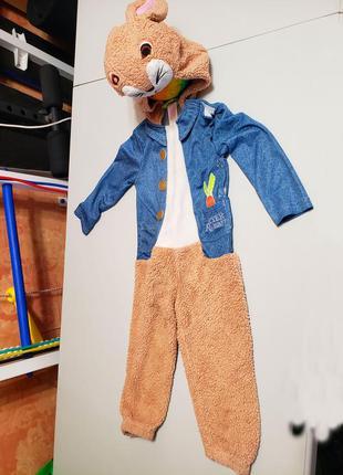 Новогодний карнавальный костюм зайца, зайчика на 2-3 года