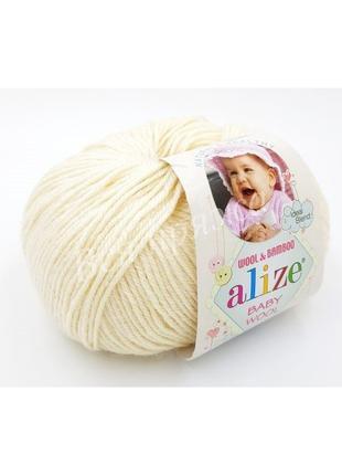 Пряжа Baby Wool Alize/Беби Вул Ализе, шерсть, детская полушерсть