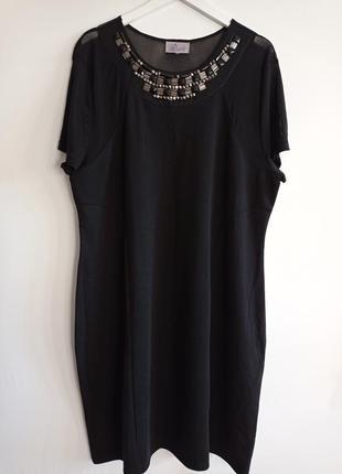 Нарядное платье с украшением большого размера