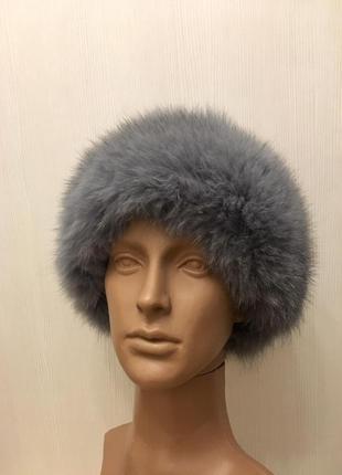 Зимняя шапка кожа и искусственный мех
