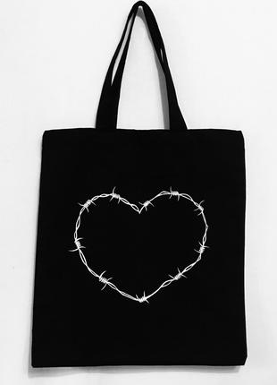 """Эко-сумка шоппер """"Сердечко"""""""
