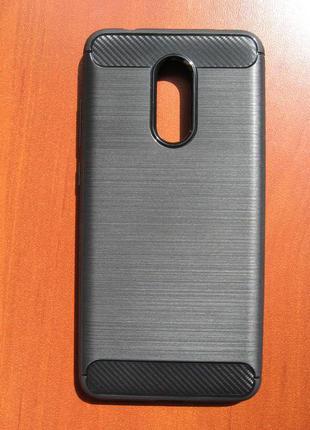 Чехол Xiaomi Redmi 5 Plus Бампер Под Карбон Черный