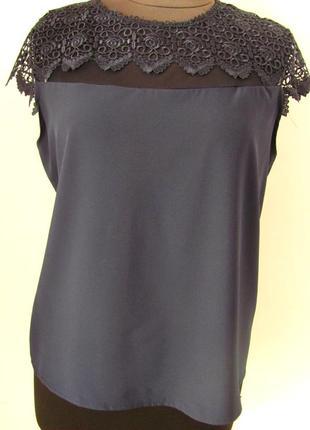 Классическая летняя блуза с кружевом из тонкой ткани софт код ...